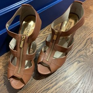 Michael Kors Leather Platform Sandals
